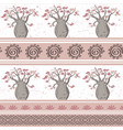 exotic african seamless pattern with babobabs vector image