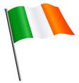 flying irish flag ireland on flagpole vector image