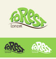 for rest and forest logo concept template vector image