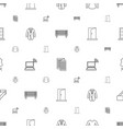front icons pattern seamless white background vector image vector image