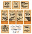 funny vintage halloween apothecary labels - set 02