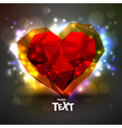 Heart to the Valentins day vector image vector image