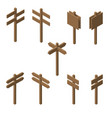 isometric wooden pointers vector image
