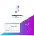 j company logo design with visiting card vector image vector image