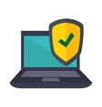 laptop computer security icon vector image vector image