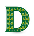 letter d christmas festive font icon vector image vector image