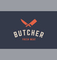 logo for butchery meat vector image vector image