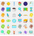 long brainstorm icons set cartoon style vector image vector image