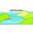 monte san giorgio line travel landmark skylin vector image