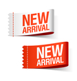 new arrival labels vector image