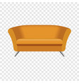 oval orange sofa mockup realistic style vector image vector image