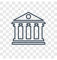 pantheon concept linear icon isolated on vector image