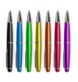 pen set stationery metal tools accessory vector image