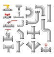 pipe or pipeline parts valves for water oil gas vector image