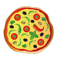 Pizza italian food vector image vector image
