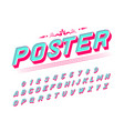 pop art font for posters comic retro alphabet vector image