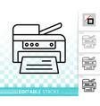 printer simple black line icon vector image