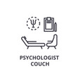 psychologist couch concept thin line icon sign vector image vector image