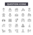 question line icons signs set outline vector image vector image