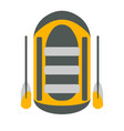 raft icon tourism equipment vector image vector image