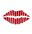 Red Kiss vector image