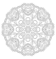 round ornamental geometric doily pattern vector image vector image