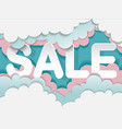 sale banner template with cloud in candy style vector image