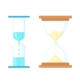Sand and water hourglasses icon cartoon style vector image