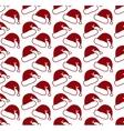 Santa claus hat seamless pattern vector image vector image