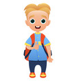 schoolchild cute cartoon character vector image vector image