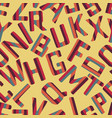 seamless pattern background alphabet vector image vector image