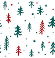 seamless pattern christmas trees pattern vector image