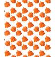 seamless pattern orange pumpkins on a white vector image