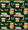 seamless pattern with colorful books stacking or vector image