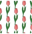 Seamless Pattern With Tulip vector image vector image