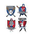 set of baseball emblems vector image vector image