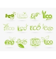 set of eco icons vector image vector image