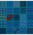 Set of hanger pattern on dark background vector image vector image