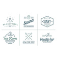 set spa beauty yoga sport elements can be used vector image vector image