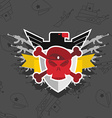 Skull in beret with the Eagle war emblem vector image vector image