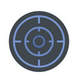 sniper scope icon flat style vector image vector image
