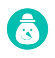 snowman christmas flat icon and on vector image