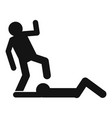 street violence icon simple style vector image vector image