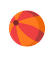 summer orange beach ball stuff icon design vector image vector image