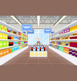 supermarket and product poster vector image vector image