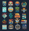 surf patch emblem set vector image