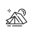 tent icon in simple one line style vector image