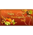 Thanksgiving day card on an orange background vector image vector image