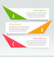 three steps infographic options banner vector image vector image