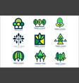 tree logo original design set of vector image vector image